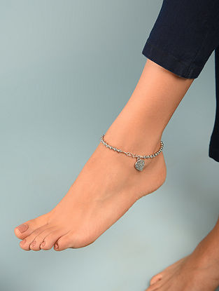 Silver Tone Tribal Anklet