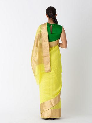 Yellow Handwoven Silk Saree