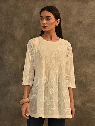 Ivory Block Printed Cotton Tunic