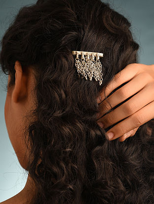 Silver Tone Tribal Hair Clip