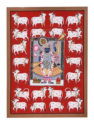 Handmade Shri Nath ji Painting on Paper (L-14in, W-11in)