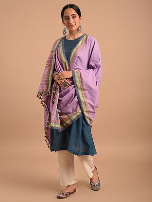Purple Handloom Bhujodi  Cotton Dupatta