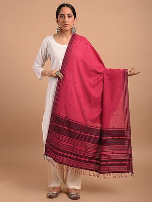 Red Handloom Bhujodi  Cotton Dupatta