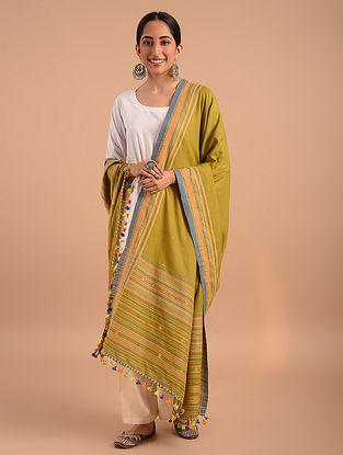 Yellow Handloom Bhujodi  Cotton Dupatta