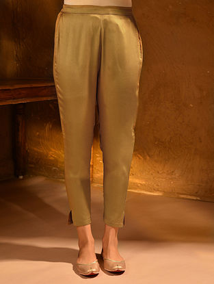 Mustard Elasticated Waist Modal Pants