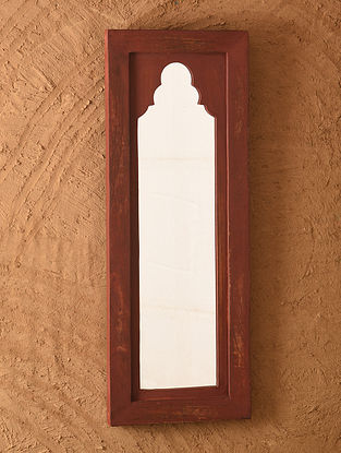 Hand Carved Wooden Mirror Frame (L - 23.6in, W - 9in)