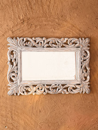 Hand Carved Wooden Mirror Frame (L - 16in, W - 24in)