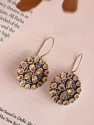 Citrin Silver Earrings