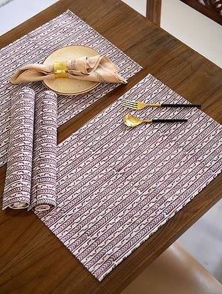 Multicolor Handblock Printed Cotton Table Mats (Set of 4)