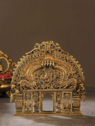 Brass Handcrafted Prabhavali (L - 8in, W - 8in)
