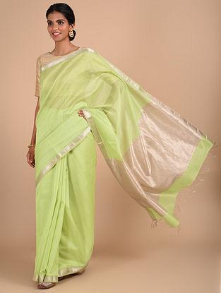 Green Handloom Maheshwari Saree