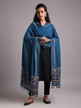 Blue Lambani Embroidered Handloom Mangalgiri Cotton Dupatta