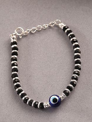 Black Tribal Silver Nazariya Bracelet for Kids