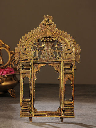 Brass Handcrafted Prabhavali (L - 10.5in, W - 6.5in)