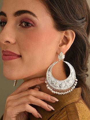 Tribal Chinar Silver Earrings