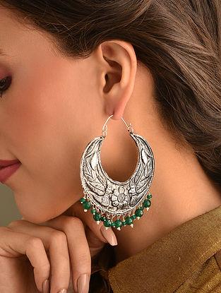 Tribal Dogri Silver Earrings