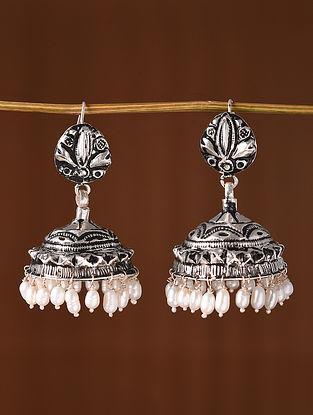Tribal Dogri Silver Jhumki  Earrings