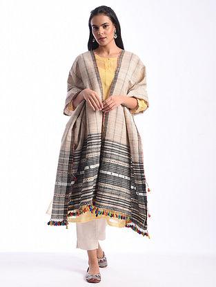 Pink Bhujodi Handwoven Silk Cotton Dupatta
