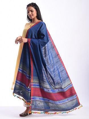 Blue Bhujodi Handwoven Silk Cotton Dupatta