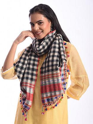 Multicolour Bhujodi Handwoven Silk Cotton Stole