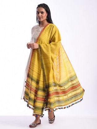 Yellow Bhujodi Handwoven Silk Cotton Stole
