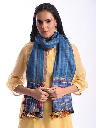 Blue Bhujodi Handwoven Silk Cotton Stole