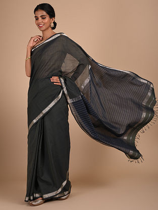 Black Handloom Maheshwari Saree