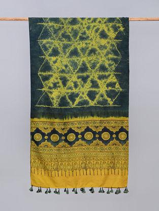 Multicolour Ajrakh Printed Gajji Stole