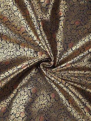 Blue Handwoven Brocade Art Silk Fabric