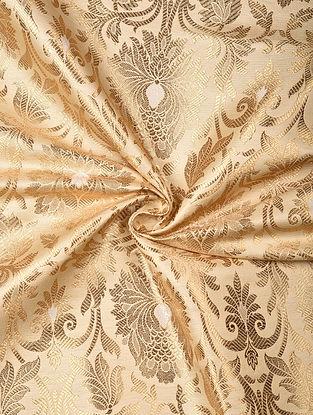 Pink Handwoven Brocade Art Silk Fabric