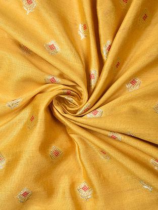 Yellow Handwoven Chiniya Art Silk Fabric