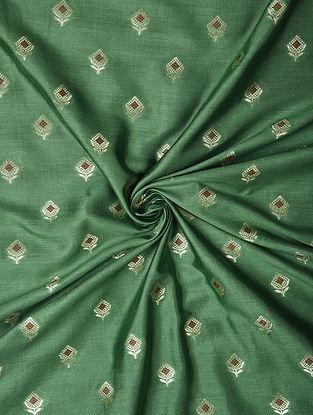 Green Handwoven Chiniya Art Silk Fabric