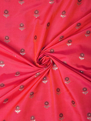 Pink Handwoven Chiniya Art Silk Fabric