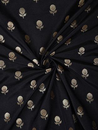 Black Handwoven Chiniya Art Silk Fabric