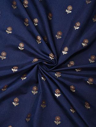 Blue Handwoven Chiniya Art Silk Fabric