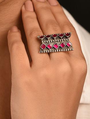 Tribal Silver Takkar Adjustable Ring