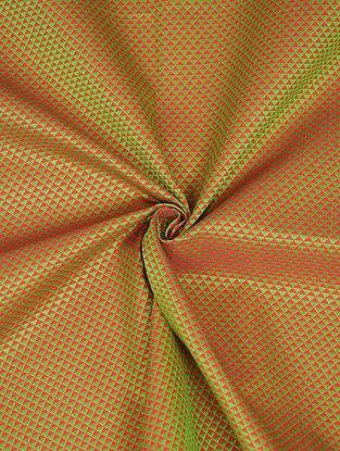 Green Handwoven Cotton Blend Fabric