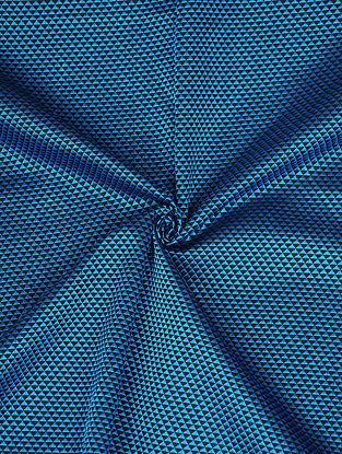 Blue Handwoven Cotton Blend Fabric