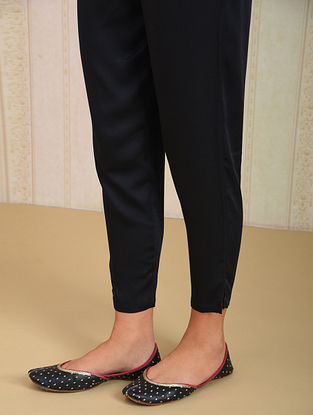 Black Elasticated Waist Modal Pants