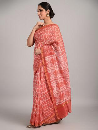 Pink Shibori Chanderi Saree