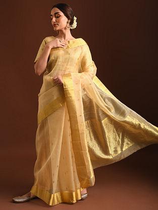 Beige Handwoven Chanderi Saree