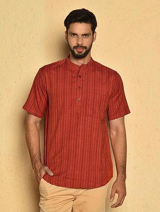 Red Cotton Very Short Kurta