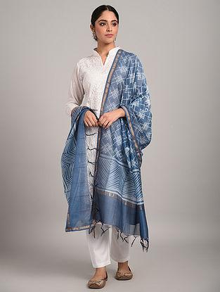 Blue Shibori Chanderi Dupatta