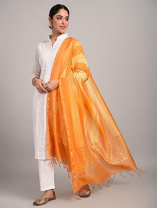 Orange Shibori Chanderi Dupatta