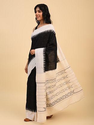 Black Handloom Cotton Ikat Saree