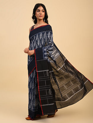 Blue Handloom Cotton Ikat Saree