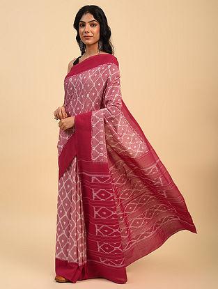Pink Handloom Cotton Ikat Saree