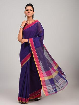 Purple Dobby Handloom Cotton Saree