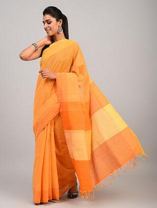 Yellow Handloom Cotton Saree