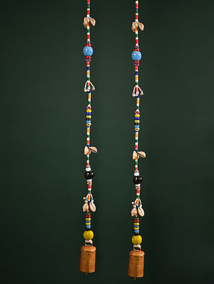 Multicolor Decorative Hangings (Set of 2) (L-46in, W-1in)